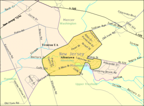 Census Bureau map of Allentown, New Jersey.png