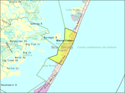 Census Bureau map of Harvey Cedars, New Jersey
