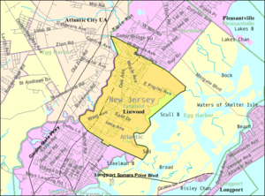 Linwood, New Jersey - Image: Census Bureau map of Linwood, New Jersey