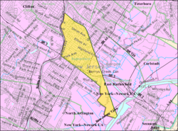 Census Bureau Map Of Rutherford New Jersey