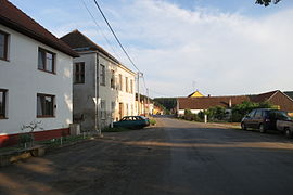 Center of Bačkovice, Třebíč District.JPG