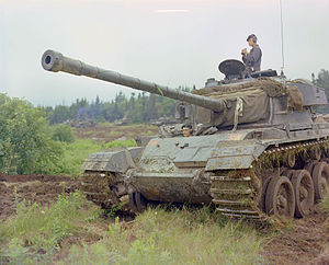 History of the Canadian Army - Centurion tank of the Canadian Army, photographed in 1963