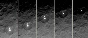 Bright spots on Ceres - Spots on Ceres from different angles