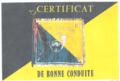Certificat de bonne conduite du Chasseur Joël Leduc du 8e groupe de chasseurs mécanisé.png