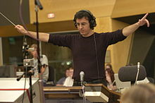 Cesar Benito conducting at Fox Studios.JPG