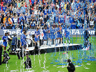 2007 FA Cup Final - The Chelsea players celebrate