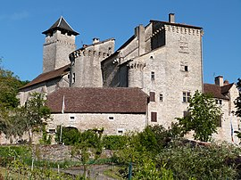 The château in Salvagnac-Cajarc