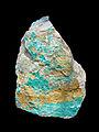 Chalcophyllite (Cap Garonne)-Musée de minéralogie de Strasbourg.jpg