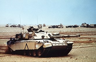Challenger 1 - Challenger 1 of the Royal Scots Dragoon Guards during the Gulf War.
