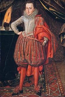 Ritratto di Carlo I nel 1610 circa, opera di Robert Peake.