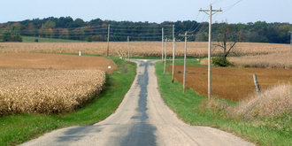 Chatterton, Indiana - Looking toward present-day Chatterton