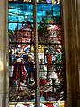 Chaumont-en-Vexin (60), église Saint-Jean-Baptiste, verrière n° 3 - translation des reliques de sainte Fortunée en 1774, 1900.JPG