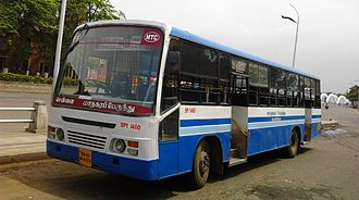 Metropolitan Transport Corporation (Chennai) - An ordinary fare (white board) bus