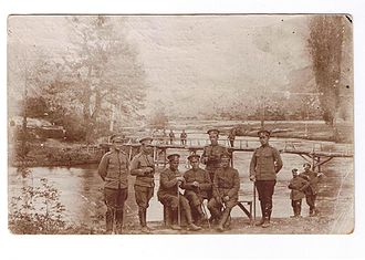 Battle of the Crna Bend (1916) - Bulgarian officers at the River Crna in 1917.