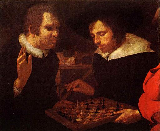 Chess players by Karel van Mander
