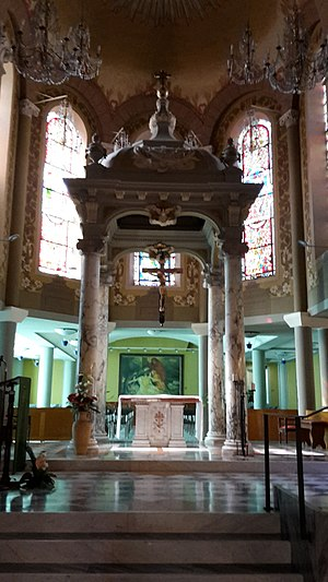 Church of the Immaculate Conception or Terrasanta - Image: Chiesa dell'Immacolata Concezione a Bordighera, altare