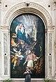 Chiesa di San Lorenzo a Vicenza - Interno - Altare Gualdo - Madonna col Bambino appare a San Pio V di Antonio Fumiani.jpg