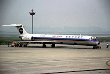 China Northern Airlines MD-82; B-2122, October 1998 BSP (5553200240).jpg