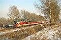 China Railways passenger train A66 on Binsui railway 20080204.jpg