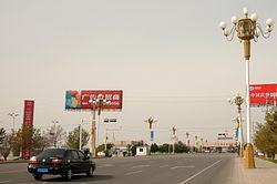 passagem de fronteira China-Cazaquistão em Korgas