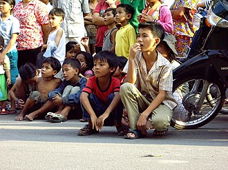Chinese Cambodian - Cambodian-Chinese children in Phnom Penh