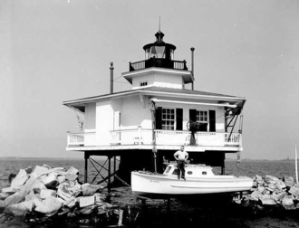 Choptank River Light - Undated photograph of Choptank River Light, Maryland (USCG)