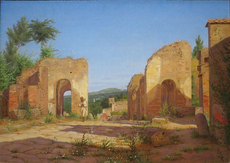File:Christen Købke - Gateway in the Via Sepulcralis in Pompeii.jpg