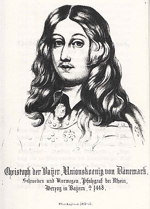Christopher of Bavaria - King Christopher the Bavarian according to a German historical publication of the 19th century.