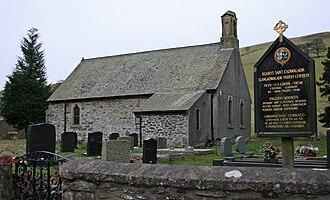 Llangadwaladr, Powys - The remote parish church of Llangadwaladr on the slopes of Gyrn Moelfre.