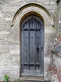 Church of St Andrew, Boothby Pagnell, Lincolnshire, England - Vestry west door.jpg