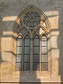Church window, Matthias Church reflection, 2016 Budapest.jpg
