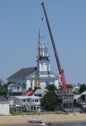 Center Methodist Church - The church steeple's renovations are nearly complete, and the steeple was reinstalled on July 26, 2007