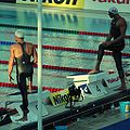 Cielo and Bernard - before 100m free - Roma09.jpg