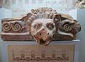 Cimaci decorat amb el cap d'un lleó procedent de la Columnata d'Echo, segle I aC. Museu Arqueològic d'Olímpia.JPG