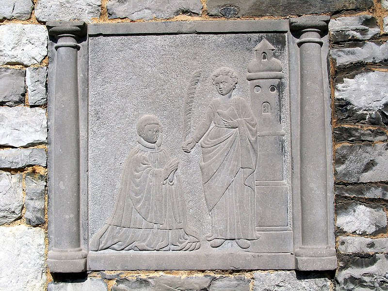 Ciney, funerary memorial on the external eastern wall of the St. Nicolas church.