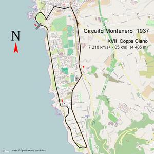 Circuito del Montenero - Circuito Montenero 1937