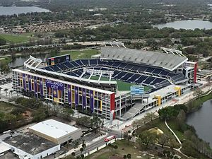 Orlando City SC - Camping World Stadium (pictured), Orlando City's home venue for their first two seasons.
