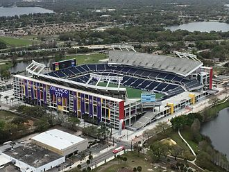Camping World Stadium - The stadium preparing for a Orlando City SC match, March 2015