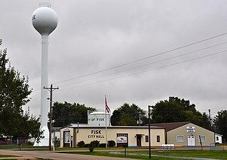Fisk, Missouri - City Hall of Fisk, October 2014.