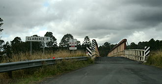 Clarence River (New South Wales) - The Bruxner Highway crossing the Clarence River at Tabulam.