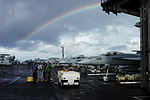 Cleaning the Flight Deck With Rainbows in the Sky DVIDS200888.jpg