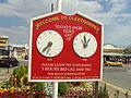 Cleethorpes high tide sign, Sea Road - DSC07333.JPG