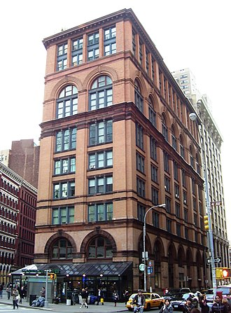 Lafayette Street - Image: Clinton Hall Mercantile Library Bldg 13 Astor Place