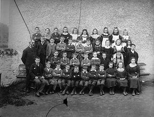 Clocaenog School pupils