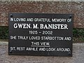 Close Up Of Plaque On Gwen M Banister Memorial Bench. - geograph.org.uk - 410628.jpg