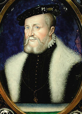 Anne de Montmorency, portrait par Léonard Limosin (1556)