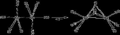 Gleichgewicht zwischen den beiden Strukturen des Dicobaltoctacarbonyls