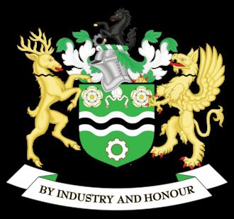Metropolitan Borough of Rotherham - Image: Coat of arms of Rotherham Metropolitan Borough Council