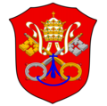 Coat of arms of the Papal States (Renaissance shape).png