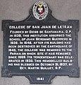 Colegio de San Juan de Letran historical marker.JPG